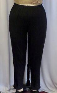25d5d9aa5f8 Coco   Juan Lagenlook Plus Size Legging Slim Pant Black Knit Size 2 ...