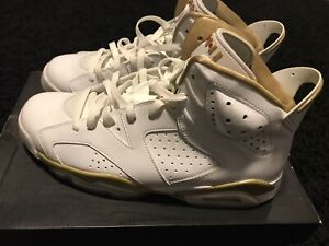 best cheap 1eca6 f0890 Details about AIR JORDAN RETRO 6 GOLDEN MOMENT Sz 10.5 GOLD MEDAL