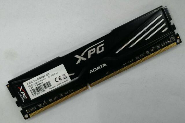 ADATA XPG 8GB DDR3 1600MHz Desktop RAM AX3U1600W8G9-BB XMP CL9 1 5v  Unbuffered
