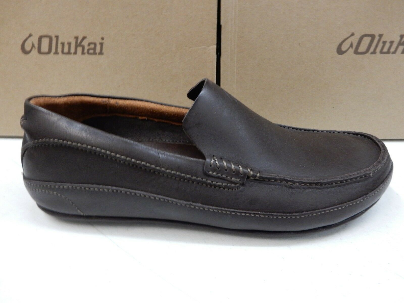 OLUKAI Uomo SHOES KULANA DARK DARK DARK WOOD SIZE 10 8bd340