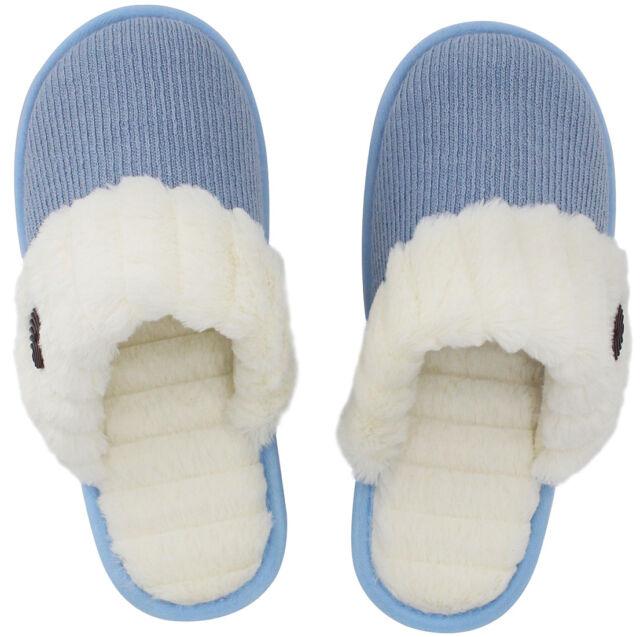 0bbce31b6 Women's Cute Comfy Fuzzy Knitted Memory Foam Slip on House Slippers ...
