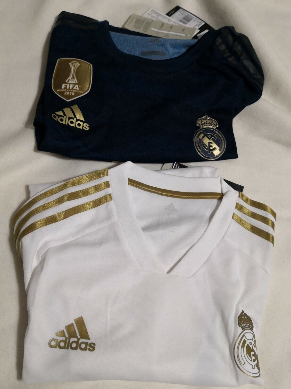 REAL MADRID OFFICIAL CHAMPIONS LEAGUE  MAGLIA UFFICIALE UFFICIALE UFFICIALE  CALCIO BIANCA 034