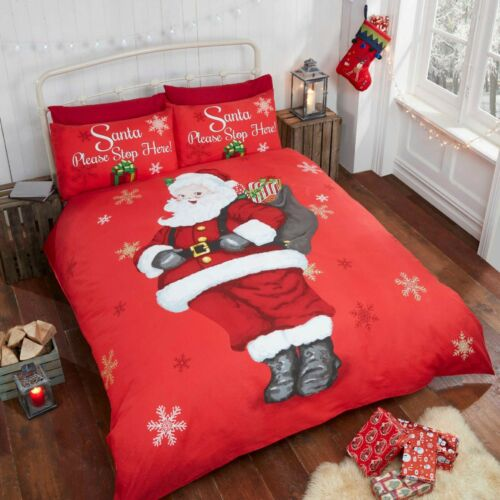 Rapport Kids Christmas Duvet Cover Bed Sets EasyCare PolyCotton Red