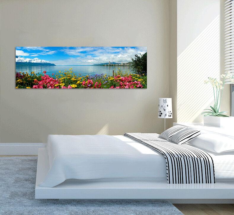 3D Farbe Blaume Meer Himmel 9024 Fototapeten Wandbild BildTapete AJSTORE DE Lemon