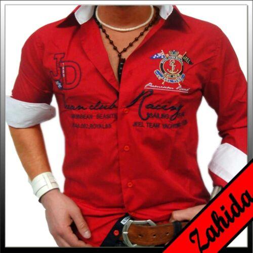 Camicia manica lunga camicie Royal Manicotto Da Uomo Polo Camicia Maglietta Rosso S M L XL XXL Nuovo
