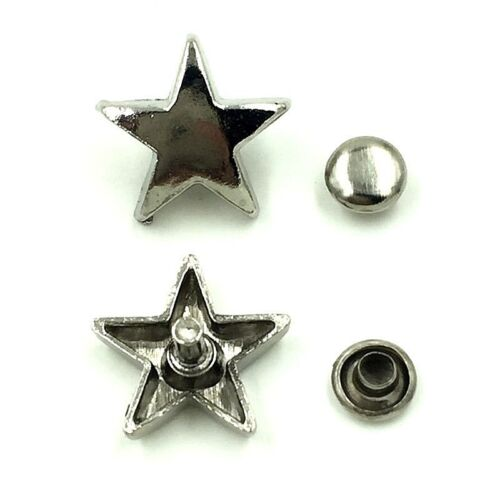 """25 Metal SMOOTH STAR 3//8/"""" to 5//8/"""" RIVET Studs Leather Crafts 1085-SM 9 to 15mm"""