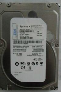 """ST2000NM001 SEAGATE/IBM 2TB 6GB 3.5"""" SAS 512 SEC HDD 9YZ268-039 90Y8576 NO TRAY"""
