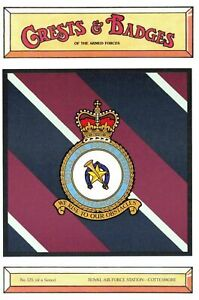 Postcard-RAF-Royal-Air-Force-Station-COTTESMORE-Crest-Badge-No-125-NEW