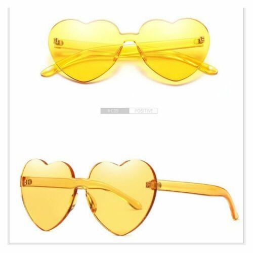 Heart-shaped Rimless Frame Sunglasses Anti-UV Candy Color Sun Glasses Women