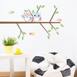 Details zu Top Wandtattoo Wandbild Wandsticker Wandaufkleber Baum Vogel  Eulen Kinderzimmer