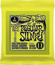 Ernie Ball 3er-pack Regelmäßiges Slinky Nickel-wunde E-gitarrensaiten 10 - 46