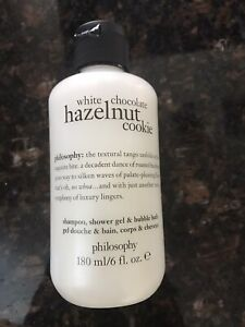 Neu Philosophy Weiße Schokolade Haselnuss Shampoo Duschgel Schaumbad 177ml