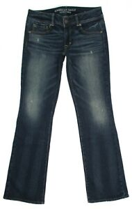 American-Eagle-Kick-Boot-Stretch-Jeans-Size-6-R-Womens-Distressed-Low-Rise-Denim