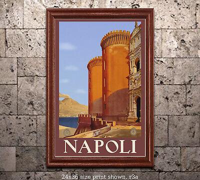 Napoli 11x17 inch Vintage Italian Travel Poster