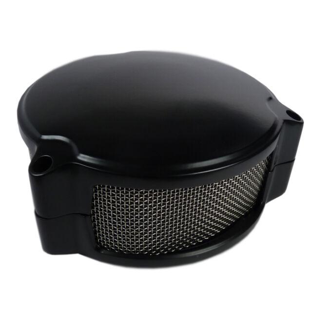Motorrad Luftfilter schwarz im Dragtron Style für Keihin CV Vergaser Harley