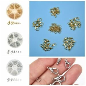 Silver-Gold-Lobster-Claw-Clasps-Hooks-amp-Open-Jump-Ring-DIY-Jewelry-Making