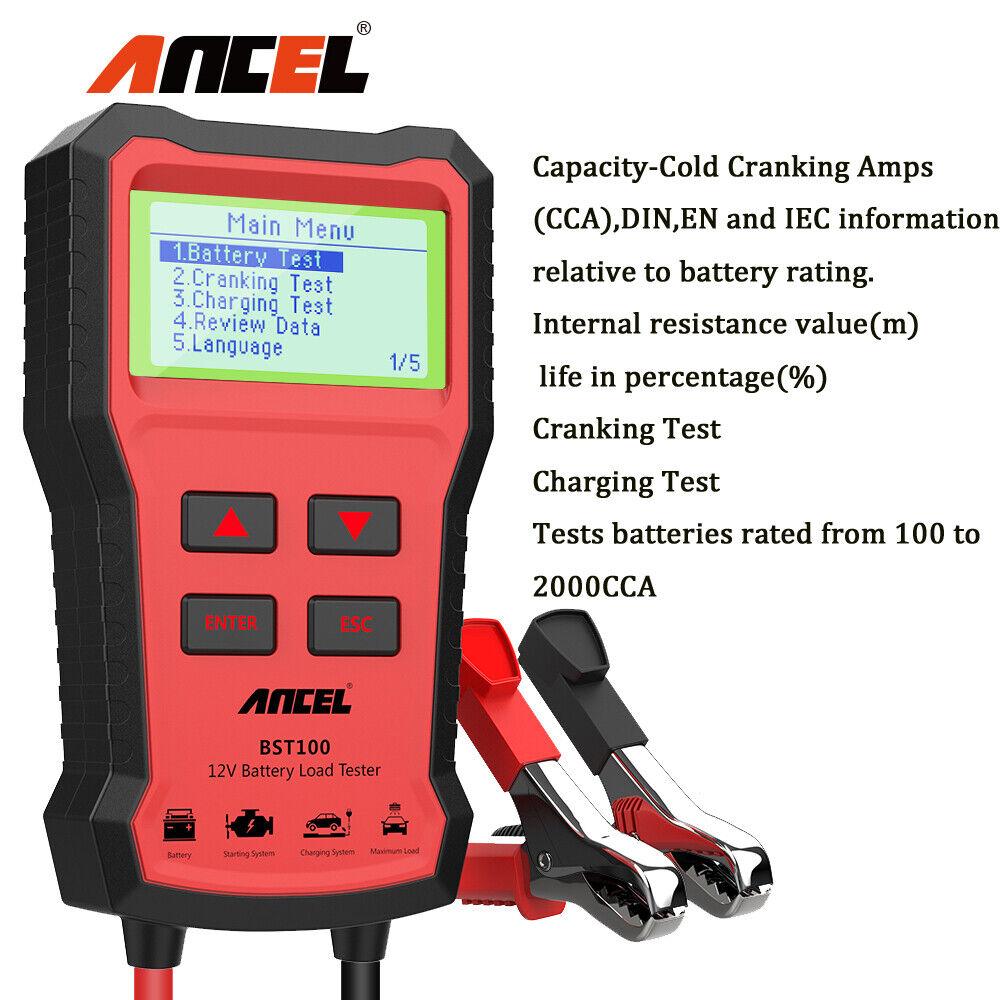 12V Auto Digitaler Batterietester Last Volt Ladesystem Analyzer 100 Ampere Eisen