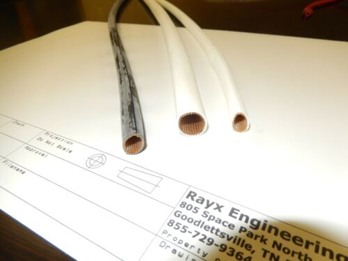 Wire Harness Covering WHITE Loom Braided Fiberglass Silicone Sleeving