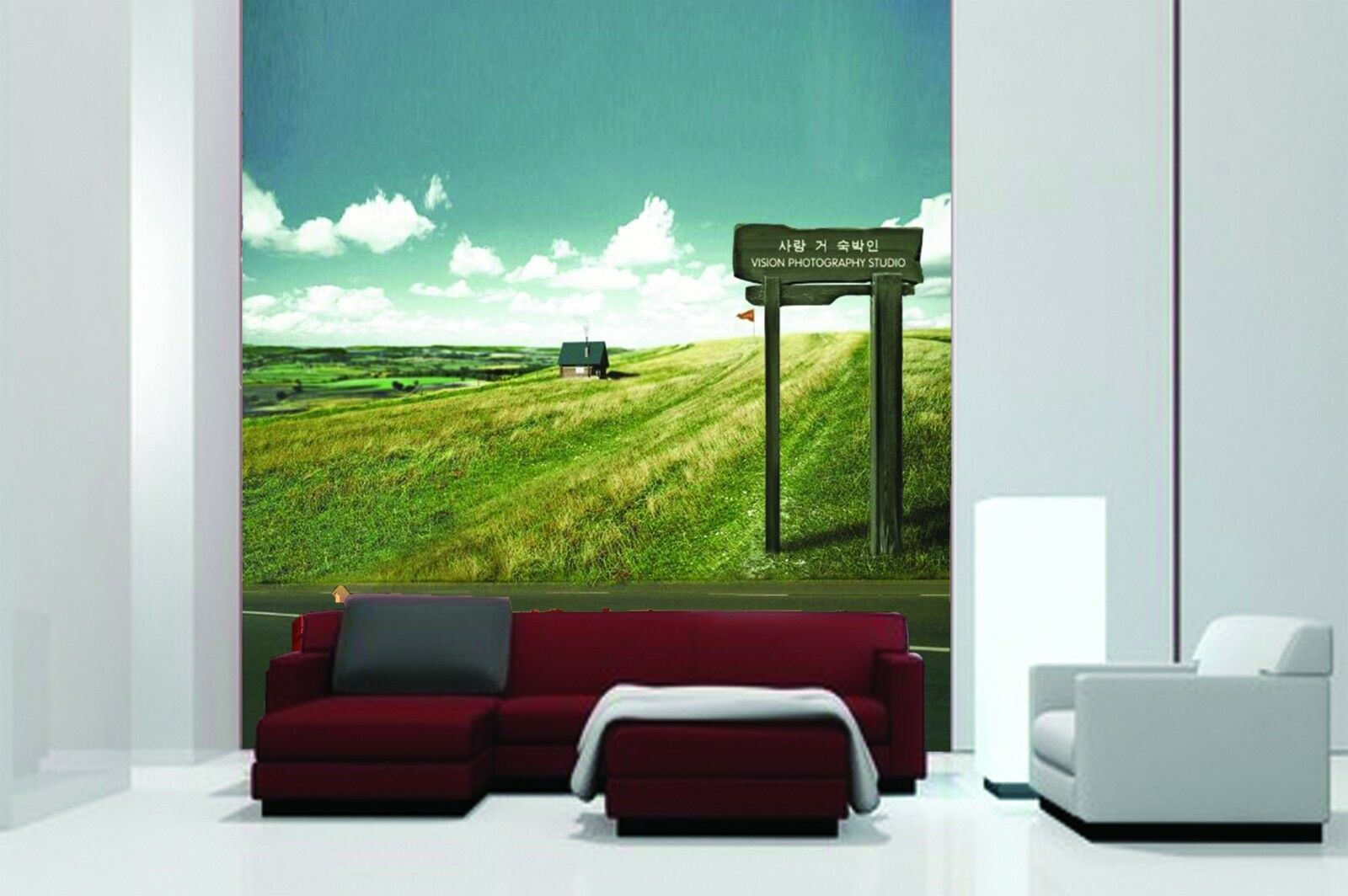 3D Field sign 2311 Wall Paper Wall Print Decal Wall Deco Indoor Wall Murals