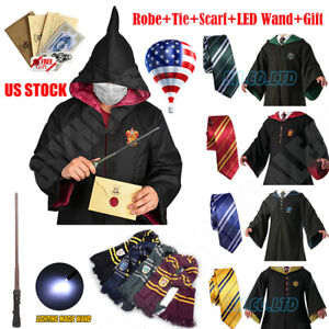 Robe-Tie-Scarf-LED-Wand-Harry-Potter-Robe-Costume-Halloween-Cosplay-Xmas-Party