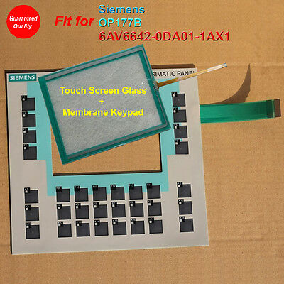 for Siemens OP177B 6AV6642-0DC01-1AX1 Membrane Keypad with Touch Screen Glass