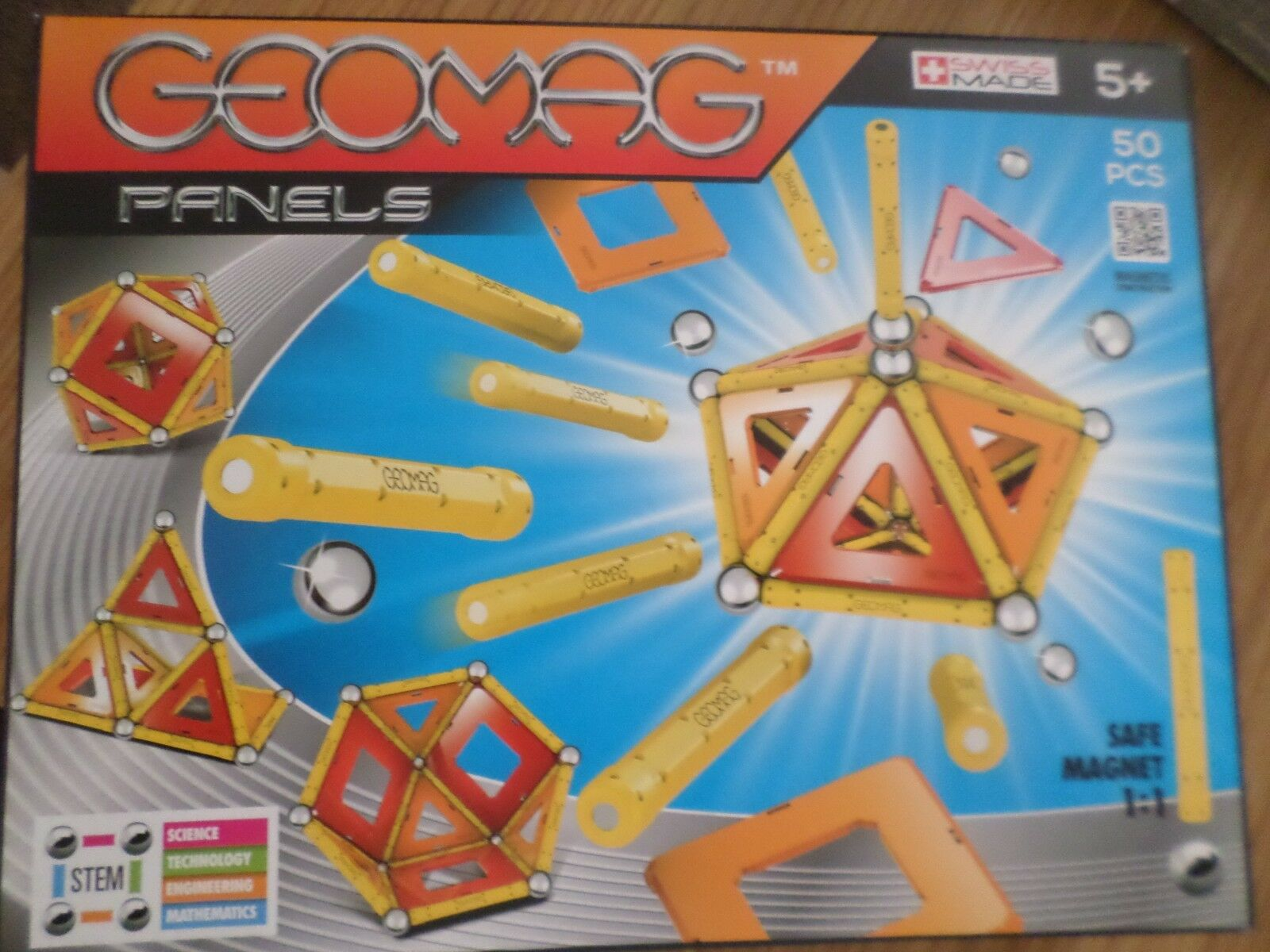 GEOMAG PANELS 50  PIECE SET MAGNETIC CONSTRUCTION  NEW FREE UK POST