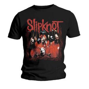 Slipknot-Group-Shot-Corey-Taylor-Joey-Jordison-Official-Tee-T-Shirt-Mens