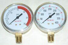 Welding Cutting Acetylene Regulator Replacement Gauges Set 2 12 Dia 14 Npt