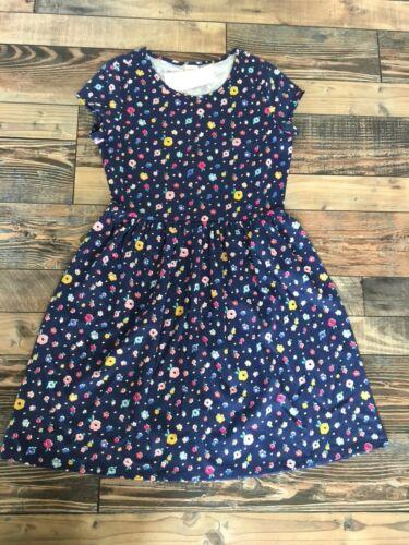 GYMBOREE NWT Mix N Match Knit Navy Blue Flower Floral Dress Girls Size L 10 12