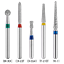 100pc-fresas-de-diamante-para-turbina-dental-High-speed-handpiece-1-6mm miniatura 4