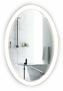 Details About Oval Led Bathroom Mirror 20 Inch X 30