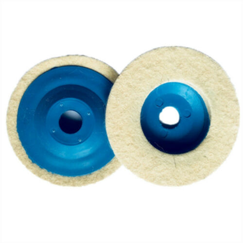 3 Piece 100mm Wool Buffing Polishing Wheel Felt Pad 4 Angle Grinder Buffer Disc