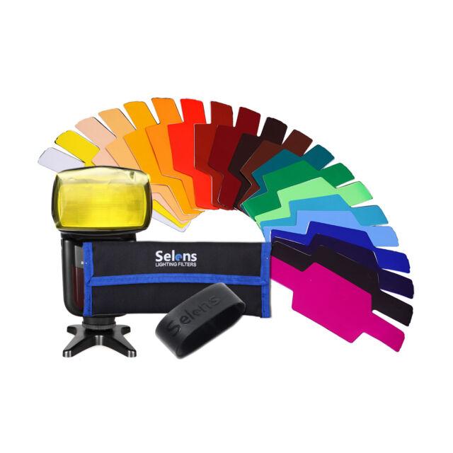 Selens SE-CG20 FLash/Speedlite/Speedlight Color Gels Kit for Canon Nikon etc