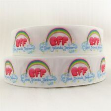 1 METRE BFF BEST FRIENDS FOREVER RIBBON SIZE INCH BOWS HEADBANDS CARD MAKING