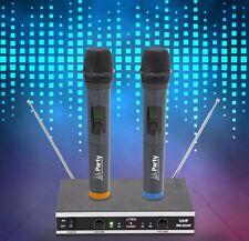 UHF Funk Mikrofon System Karaoke Konferenz DJ PA Mikro Handsender Empfänger