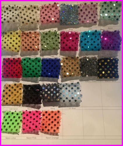 Sequin Small Dot 36 inches width sold by the yard Home Decoration apparel craft