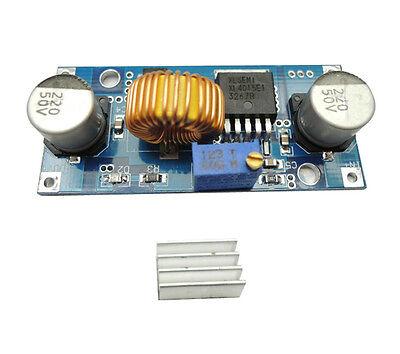 1Pcs XL4015E 5A 4-38V DC-DC Step Down Adjustable Power Supply Module+Heat Sink