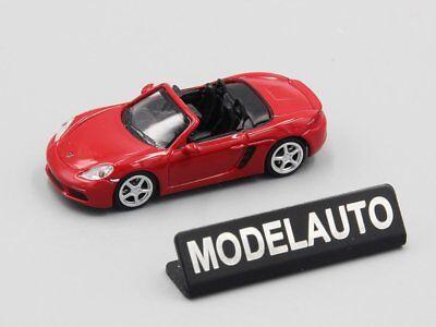 1//87 Minichamps Porsche Boxter 718 2016 rojo 870065130