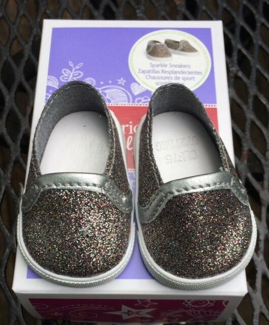 American Girl Truly Me Sparkle Sneakers Doll Shoes ~ Z Yang ~ Tenney~ NEW IN BOX