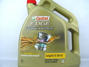 Castrol-5W30-Edge-Professional-Longlife-3-5W-30-Huile-VW-50400-50700-5Liter-Neuf