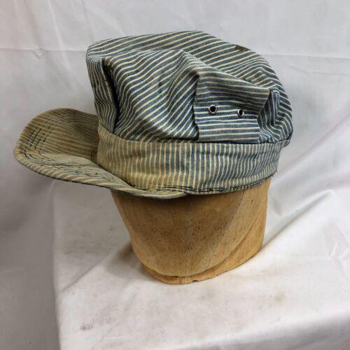 Antique Vintage Railroad Engineer Hat Cap Workwear