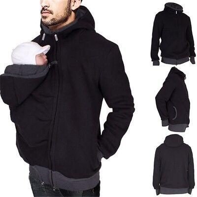 Baby Tragetasche Jacke Känguru Winter Mutterschaft Vater Oberbekleidung Mantel.~
