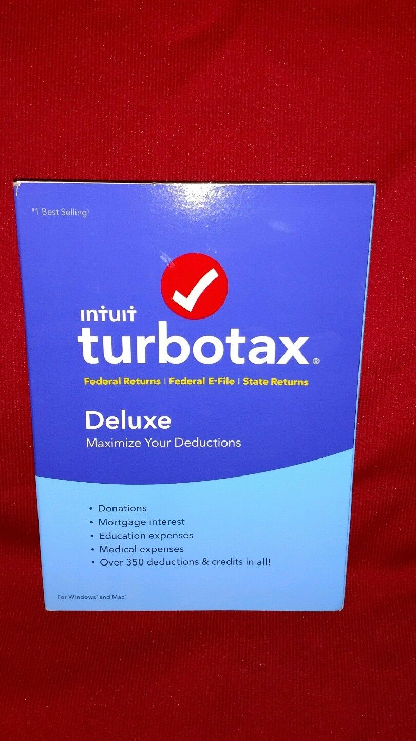 TurboTax Deluxe 2012 Federal Returns Disc with Federal E-Files For Windows /& Mac