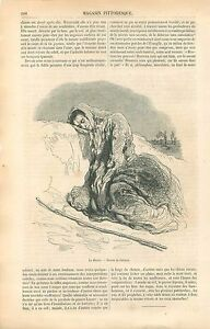 La-Misere-Vagabond-Second-Empire-par-Paul-Gavarni-Peintre-GRAVURE-OLD-PRINT-1860
