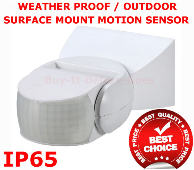 Surface Mount Motion Security Sensor 3 Wire IP65 Weather Proof Outdoor