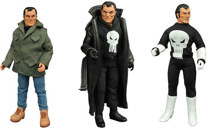 THE PUNISHER RETRO ACTION FIGURE DA 20 CM NUOVO DA NEGOZIO ITALIANO