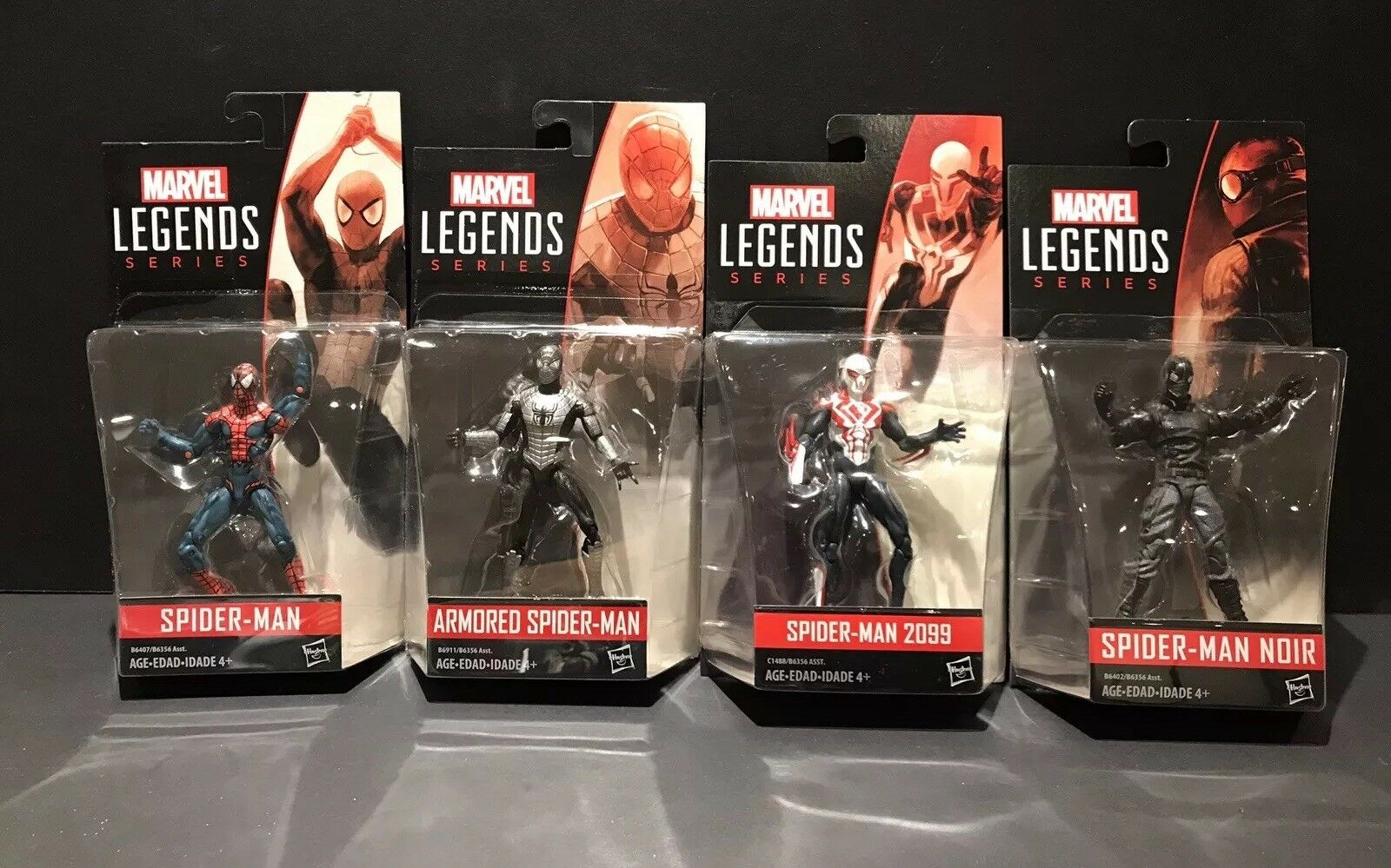 Marvel Legends 3.75 Spider-man 2009 Blindé Noir figure lot