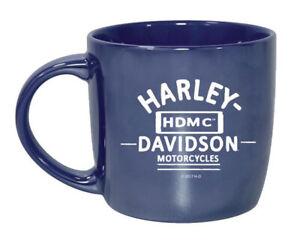 HARLEY-DAVIDSON-BLUE-CITY-LUSTRE-SHINY-COFFE-MUG-3CLM4925
