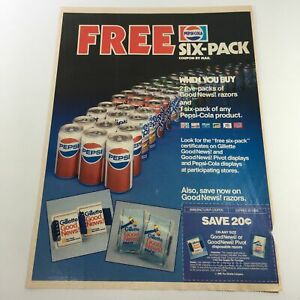 VTG-Retro-1985-Pepsi-Cola-FREE-Six-Pack-Products-Coupon-By-Mail-Print-Ad-Coupons