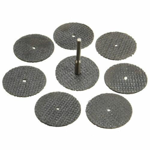 100pcs 32mm Fiberglass Reinforced Cut Off Wheel Discs Rotary Tool With Mandrel